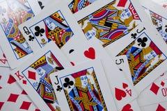 Close-up van speelkaarten stock afbeeldingen