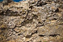 Close-up van steenmuur Royalty-vrije Stock Foto's