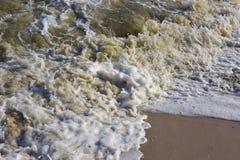 Close-up van strandwater Stock Fotografie