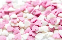 Close-up van suikergoed op abstract textuurpatroon als achtergrond Stock Foto's