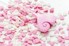 Close-up van suikergoed op abstract textuurpatroon als achtergrond Royalty-vrije Stock Afbeelding