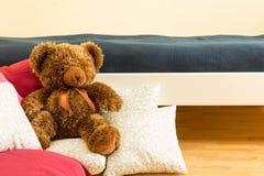 Close-up van teddy Stock Afbeeldingen