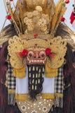 Close-up van traditioneel Balinees Barong-masker in Indonesië stock afbeelding