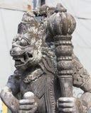 Close-up van traditioneel Balinees Godsstandbeeld Stock Fotografie