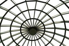 Close-up van transparante koepel van het gebouw Mening van binnenuit Stock Foto