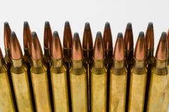 Close-up van twee rijen van kogels Royalty-vrije Stock Afbeelding