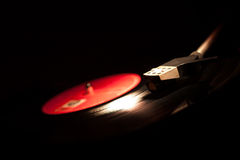 Close-up van uitstekende grammofoon Royalty-vrije Stock Afbeeldingen