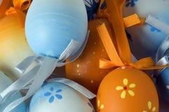 Close-up van verscheidene Paaseieren Stock Foto