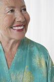Close-up van Vrolijke Hogere Vrouw royalty-vrije stock foto's