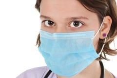 Close-up van vrouw arts met masker Stock Afbeeldingen