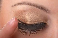 Close-up van vrouwelijk oog Royalty-vrije Stock Foto's