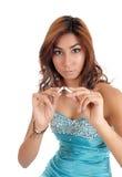 Close-up van vrouwen brekende sigaret Stock Foto's