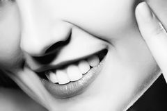 Close-up van vrouwenlippen Royalty-vrije Stock Afbeelding