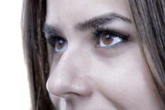 Close-up van vrouwenoog dat wordt geschoten Stock Afbeelding