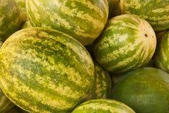 Close-up van Watermeloenen Stock Afbeeldingen