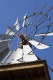 Close-up van westelijke windmolen Stock Afbeelding