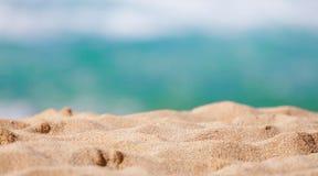 Close-up van zand van een strand in de zomer Royalty-vrije Stock Foto
