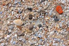 Close-up van zandpatroon van een strand in de zomer royalty-vrije stock afbeeldingen
