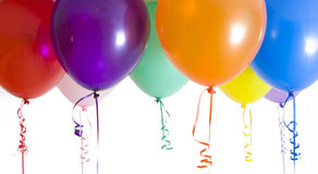 Close Up of Variety of Balloons Brightly Lit Royalty Free Stock Photo