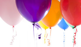 Close Up of Variety of Balloons Brightly Lit Stock Photography