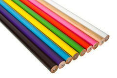 Close up various of color pencil Royalty Free Stock Image
