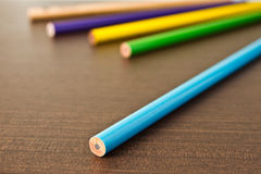 Close up various of color pencil Stock Image