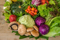 Close up of various colorful raw vegetables. Royalty Free Stock Photography