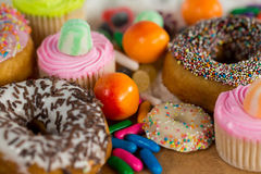 Close-up of various confectionery stock image