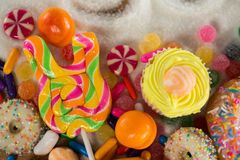 Close-up of various confectionery royalty free stock photo