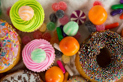 Close-up of various confectionery stock photo