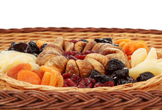 Close up of various dried exotic fruits Royalty Free Stock Photography