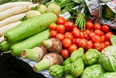 Close-up of various kind of vegetables in the market stock images