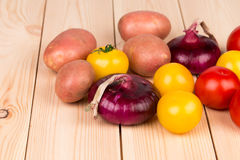 Close up of various ripe vegetables. Royalty Free Stock Photography
