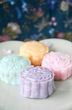 Close up Various Snow Skin Mooncake Stock Images