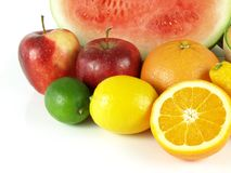 Close-up of various, tropical and fresh fruits Stock Photos