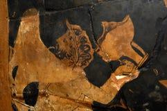 Close up vase Classical Greek Stock Photo