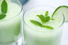 Close up of a vegetable smoothie royalty free stock image