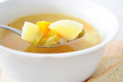Close up of vegetable soup Royalty Free Stock Images