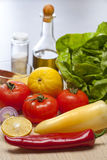 Close-up vegetables. Fresh vegetables ready for salad preparation stock photos