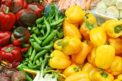 Close up of vegetables on market stand Royalty Free Stock Photo