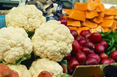 Close up of vegetables on market stand Royalty Free Stock Photos