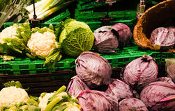 Close up of vegetables on market stand Stock Photography