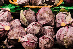 Close up of vegetables on market stand Stock Images