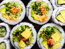 Close-up of vegetarian sushi Stock Image
