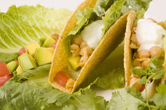 Close up of Vegetarian Tacos Royalty Free Stock Photo