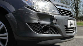 Close Up Of Vehicle Damaged In Traffic Accident stock video footage
