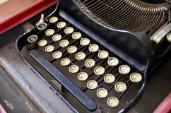 Close up velho da máquina de escrever foto de stock royalty free