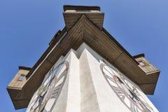 Close up velho de Uhrturm da torre de pulso de disparo em Graz, Áustria imagem de stock