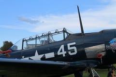 Close up velho do avião de combate do lutador Foto de Stock