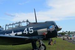 Close up velho do avião de combate do lutador Fotos de Stock